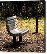 Empty Bench Meditation Spot Acrylic Print