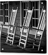 .empty Chairs. Acrylic Print by Lynn E Harvey