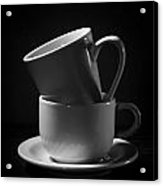 Empty Coffee Cups Acrylic Print