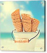 Empty Ice Cream Cones Acrylic Print
