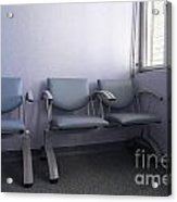 Empty Seats In A Waiting Room Acrylic Print by Sami Sarkis