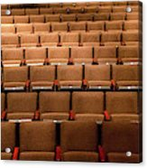 Empty Theater Chairs In Ventura Arts Acrylic Print