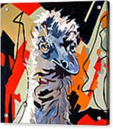 Emu Design In Acrylic Acrylic Print