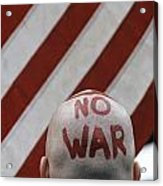War Protest Acrylic Print