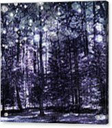 Enchanted Plum Forest Acrylic Print