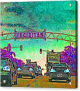 Encinitas California 5d24221p180 Acrylic Print by Wingsdomain Art and Photography