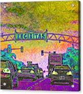Encinitas California 5d24221p68 Acrylic Print by Wingsdomain Art and Photography