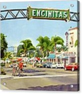 Encinitas California Acrylic Print by Mary Helmreich