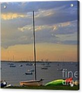 End Of Day At The Bay Acrylic Print