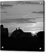 End Of Day Bw Acrylic Print