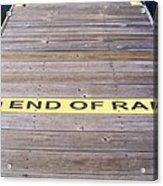End Of Ramp Acrylic Print