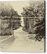 End Of The Road Merged Image Acrylic Print