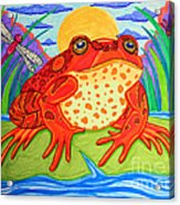Endangered Red Legged Frog Acrylic Print by Nick Gustafson