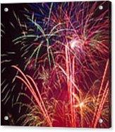 Endless Fireworks Acrylic Print by Garry Gay