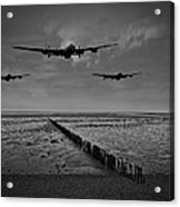 Enemy Coast Ahead Skipper Black And White Version Acrylic Print