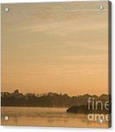 Engine Pool Sunrise Acrylic Print
