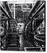 Engine Room Queen Mary 02 Bw 01 Acrylic Print