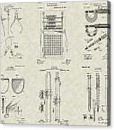 Engineering Tools Patent Collection Acrylic Print