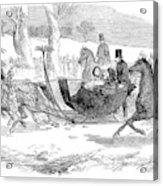 England Royal Sledge, 1854 Acrylic Print