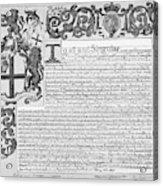 England Trade Charter Acrylic Print
