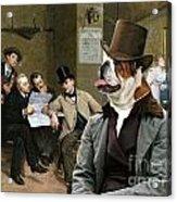 English Bulldog Art - The Latest News Acrylic Print