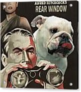English Bulldog Art Canvas Print - Rear Window Movie Poster Acrylic Print