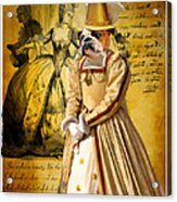 English Bulldog Art Canvas Print  Acrylic Print
