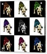 English Bulldog Dog Art - 1368 - V1 - M Acrylic Print
