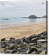 English Channel Beach Acrylic Print