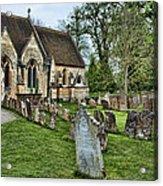 English Church Yard Acrylic Print