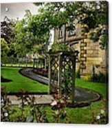 English Country Garden And Mansion - Series IIi. Acrylic Print