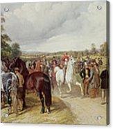 English Horse Fair On Southborough Common Acrylic Print by John Frederick Herring Snr