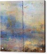 English Landscape 80 X 120 Diptych Acrylic Print