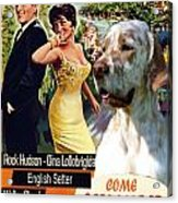 English Setter Art Canvas Print - Come September Movie Poster Acrylic Print