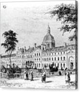 Engraving Of Salpetriere Hospital Acrylic Print