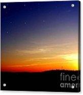 Enhanced Sunset Acrylic Print by Jayson Banner