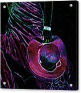 Enigma Purple. Black Art Acrylic Print by Jenny Rainbow