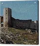 Enisala Fortress Canvas Acrylic Print
