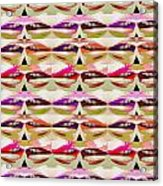 Enjoy Bliss Of Artistic Sensual Aura Lips  Kiss Romance Pattern Digital Graphic Signature   Art  Nav Acrylic Print
