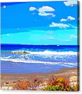Enjoy The Blue Sea Acrylic Print