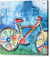Enjoy The Ride- Colorful Bike Painting Acrylic Print