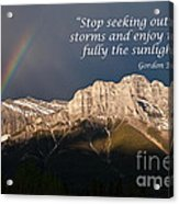 Enjoy The Sunlight Acrylic Print
