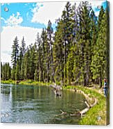 Enjoying Des Chutes River In Des Chutes Nf-or Acrylic Print