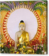 Enlightened Buddha Sitting Under The Bodhi Tree Acrylic Print