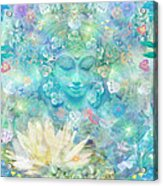 Enlightened Forest Heart 3 Acrylic Print
