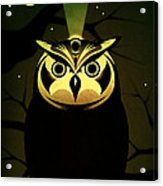 Enlightened Owl Acrylic Print