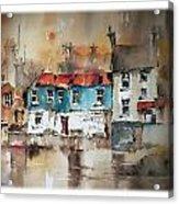 Ennistymon Backwater Clare Acrylic Print