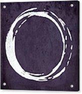 Enso No. 107 Purple Acrylic Print