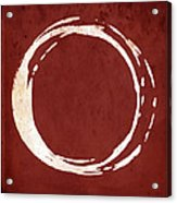 Enso No. 107 Red Acrylic Print by Julie Niemela