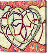 Entangled Hearts Acrylic Print